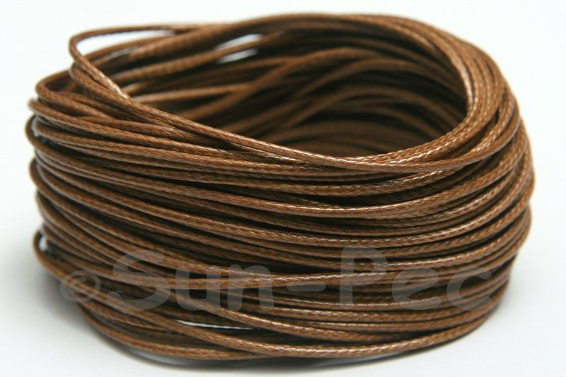 Brown 1mm Coated Polyester Cord (snakeskin style) 5m - 50m