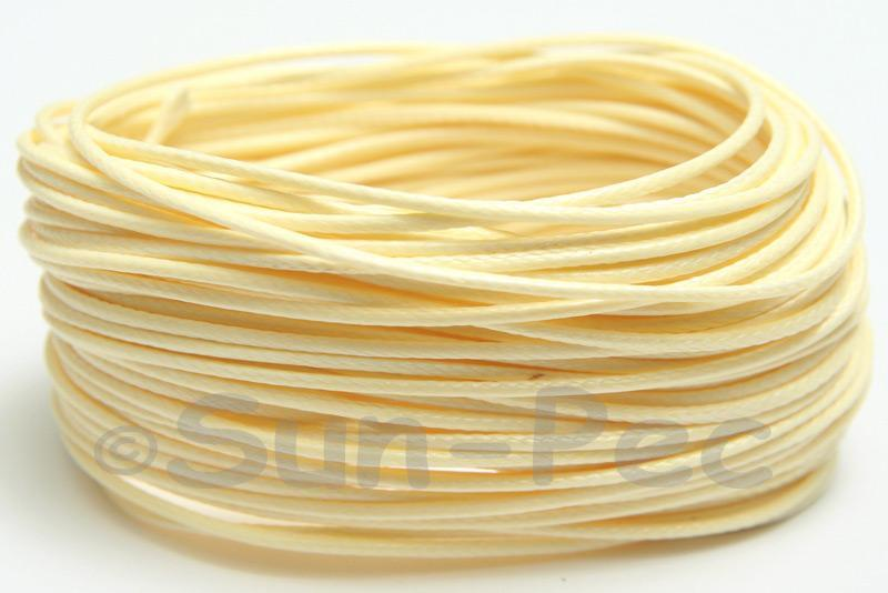Cream 1mm Coated Polyester Cord (snakeskin style) 5m - 50m