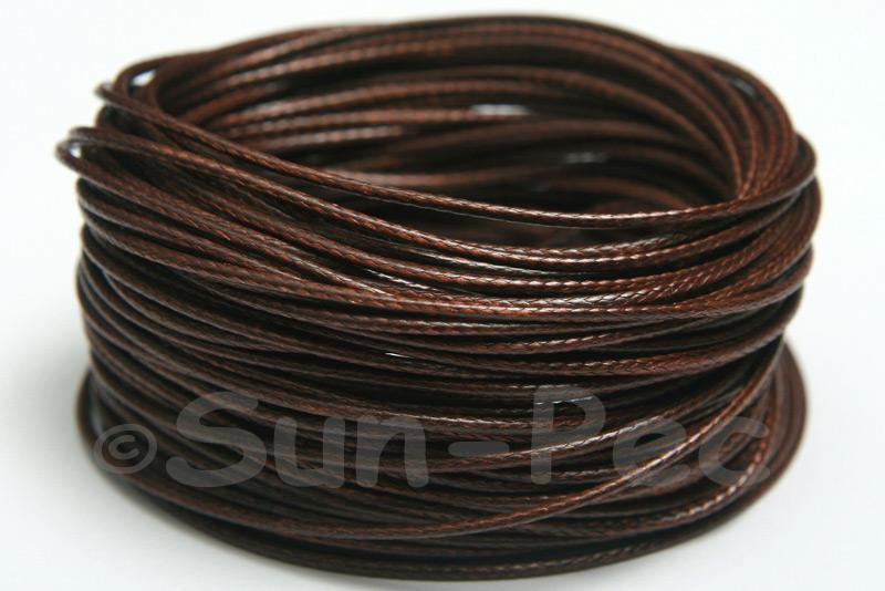 Dark Brown 1mm Coated Polyester Cord (snakeskin style) 5m - 50m
