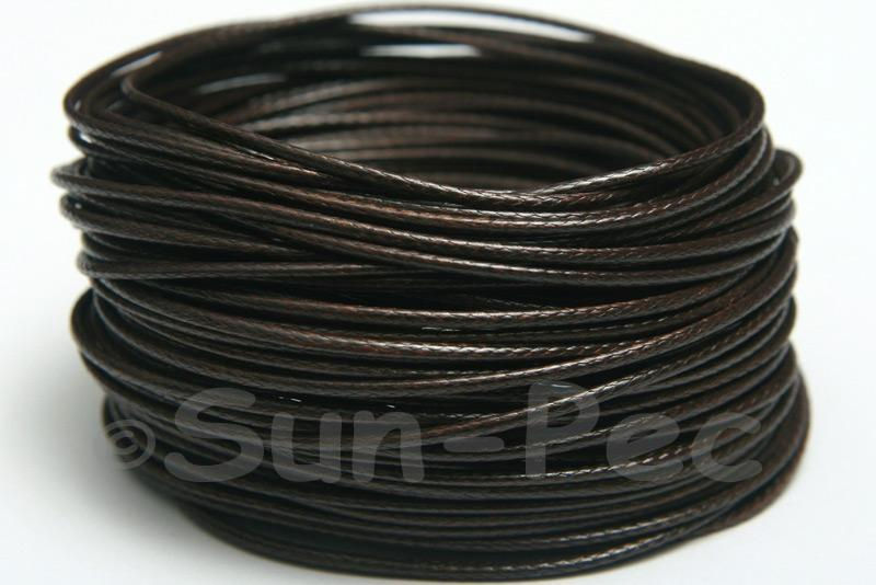 Dark Coffee 1mm Coated Polyester Cord (snakeskin style) 5m - 50m