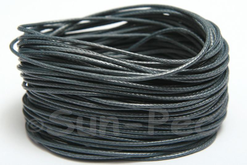 Dark Grey 1mm Coated Polyester Cord (snakeskin style) 5m - 50m