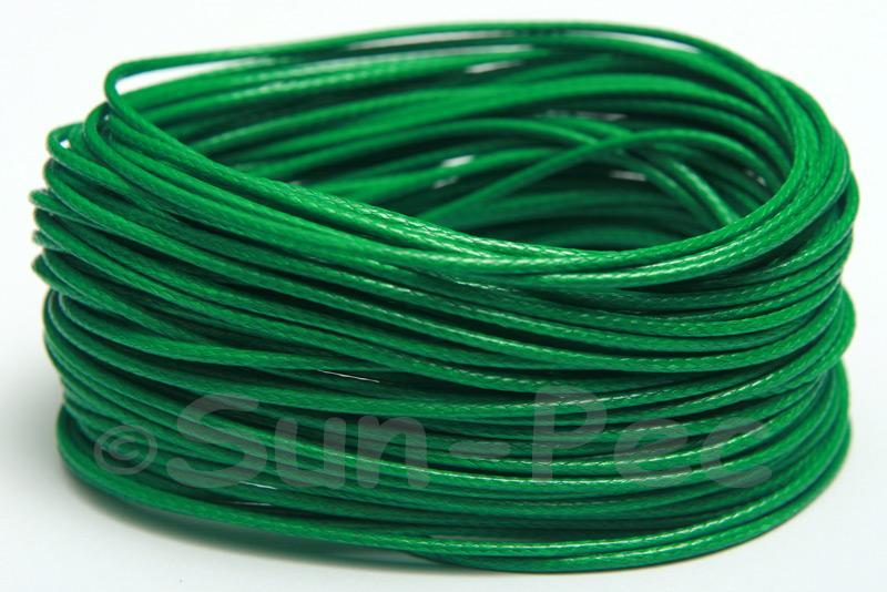 Green 1mm Coated Polyester Cord (snakeskin style) 5m - 50m