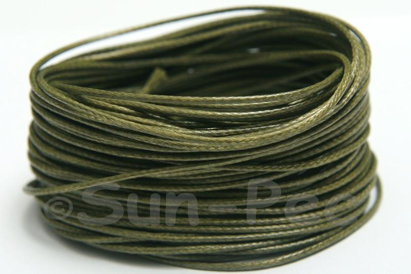 Khaki Green 1mm Coated Polyester Cord (snakeskin style) 5m - 50m