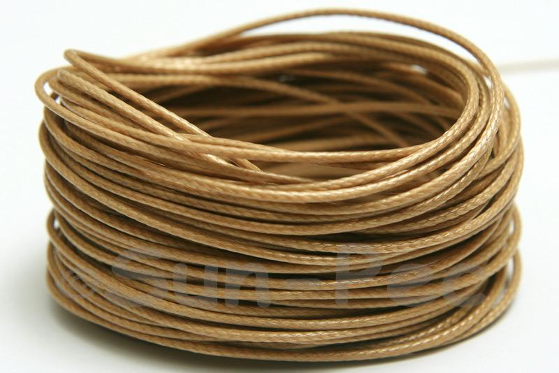 Khaki Brown 1mm Coated Polyester Cord (snakeskin style) 5m - 50m