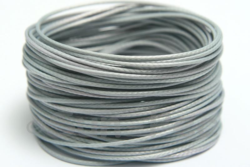Light Grey 1mm Coated Polyester Cord (snakeskin style) 5m - 50m