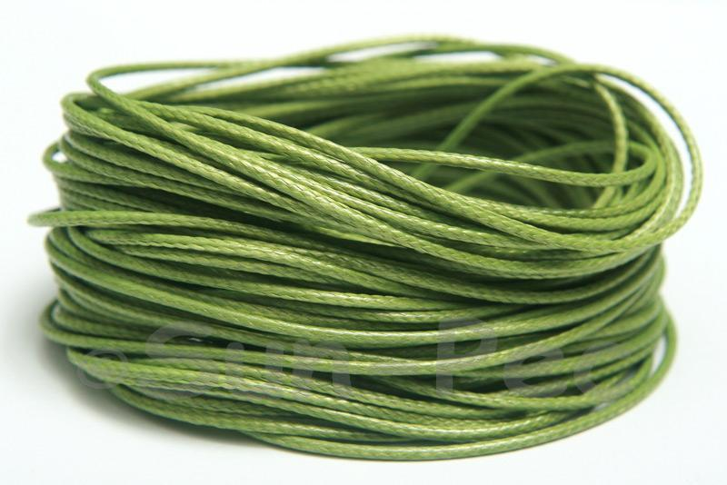 Olive Green 1mm Coated Polyester Cord (snakeskin style) 5m - 50m
