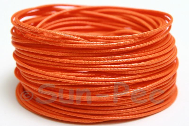 Orange 1mm Coated Polyester Cord (snakeskin style) 5m - 50m