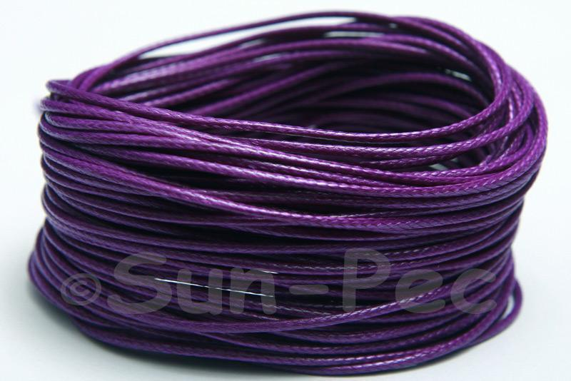 Purple 1mm Coated Polyester Cord (snakeskin style) 5m - 50m