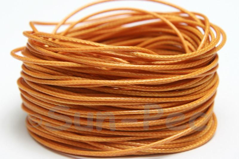 Orange Tan 1mm Coated Polyester Cord (snakeskin style) 5m - 50m
