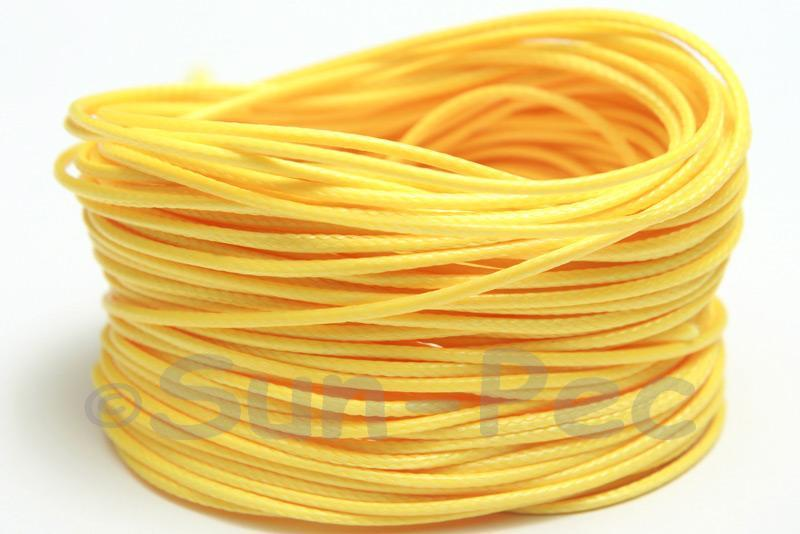 Yellow 1mm Coated Polyester Cord (snakeskin style) 5m - 50m