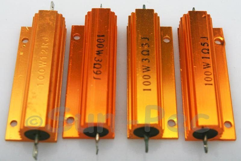 100W Wirewound Resistor Aluminium Clad 0.1 Ohm - 30K Ohm choices 1pcs