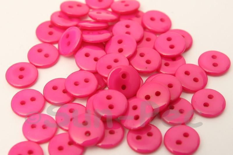 Rose #1 10mm Standard Round 2 Eye Hole Buttons 50pcs - 200pcs