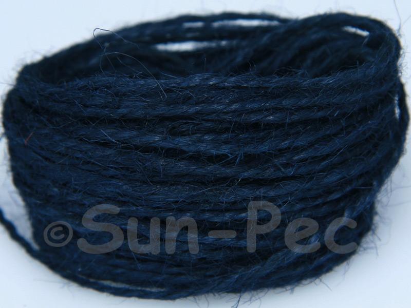 Navy Blue 1mm-1.5mm Coarse Twisted Hemp Jute Cord 5m - 80m