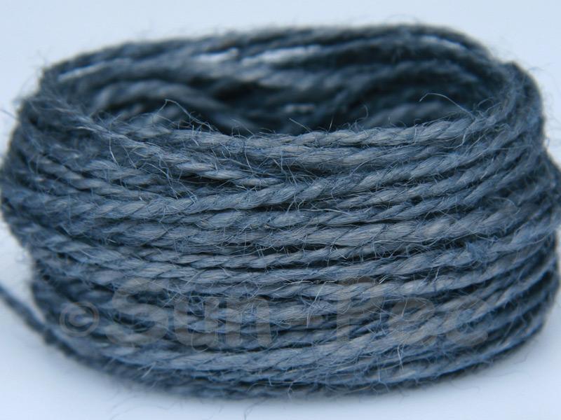 Grey 1mm-1.5mm Coarse Twisted Hemp Jute Cord 5m - 80m