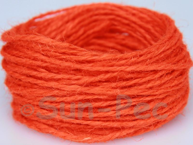 Hot Orange 1mm-1.5mm Coarse Twisted Hemp Jute Cord 5m - 80m