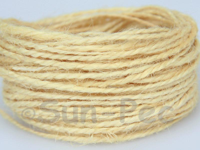 Pale Yellow 1mm-1.5mm Coarse Twisted Hemp Jute Cord 5m - 80m