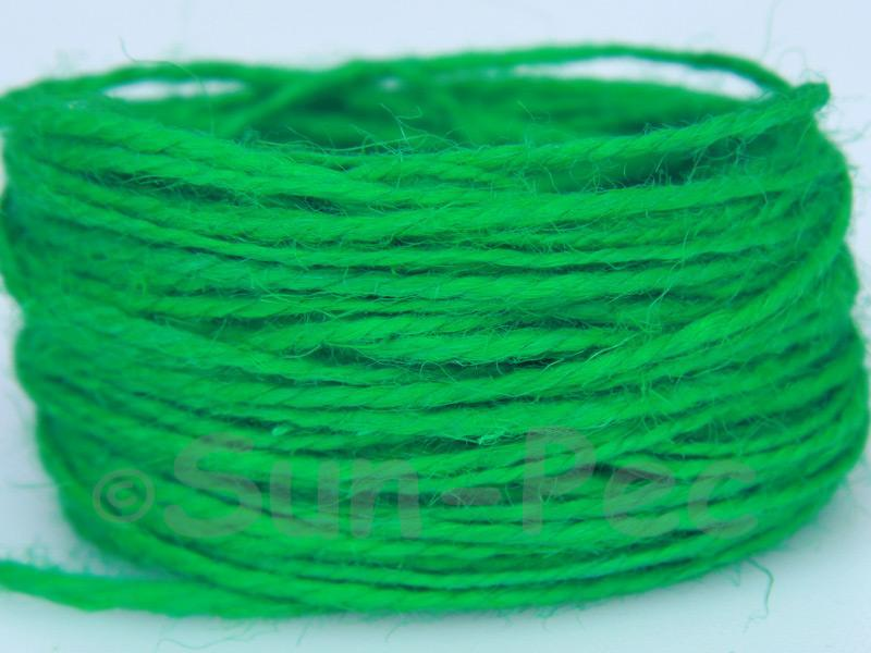 Green 1mm-1.5mm Coarse Twisted Hemp Jute Cord 5m - 80m