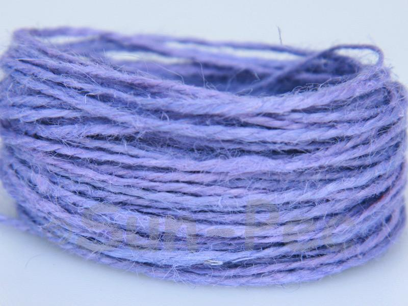 Lilac 1mm-1.5mm Coarse Twisted Hemp Jute Cord 5m - 80m