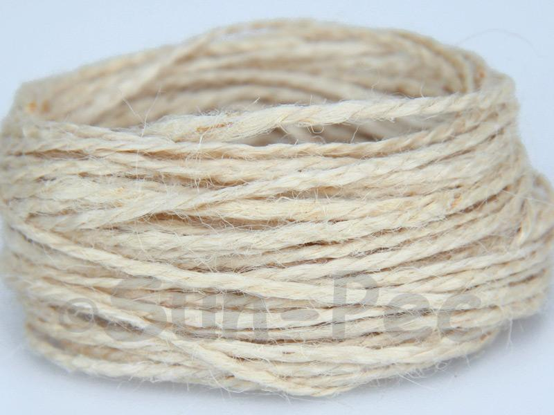 Ivory 1mm-1.5mm Coarse Twisted Hemp Jute Cord 5m - 80m