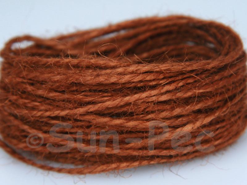 Brown 1mm-1.5mm Coarse Twisted Hemp Jute Cord 5m - 80m