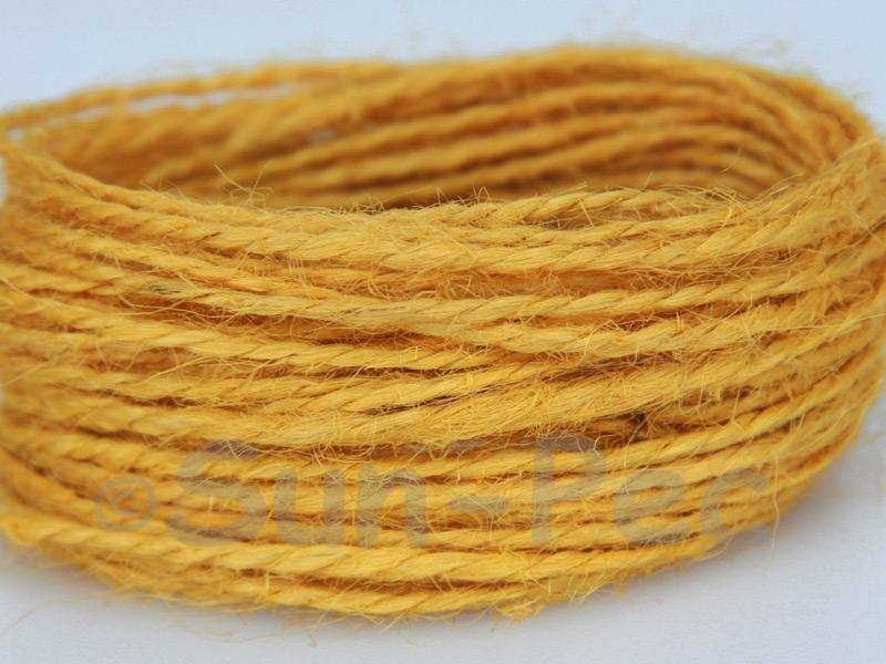 Dusty Yellow 1mm-1.5mm Coarse Twisted Hemp Jute Cord 5m - 80m
