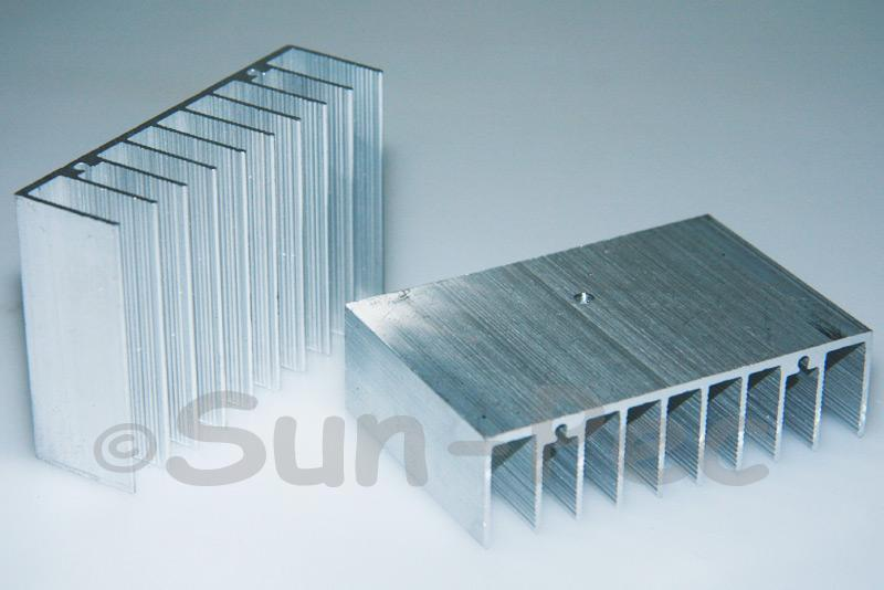 Aluminum Heatsink Heat Sink Silver 75x50x21mm 1pcs - 10pcs