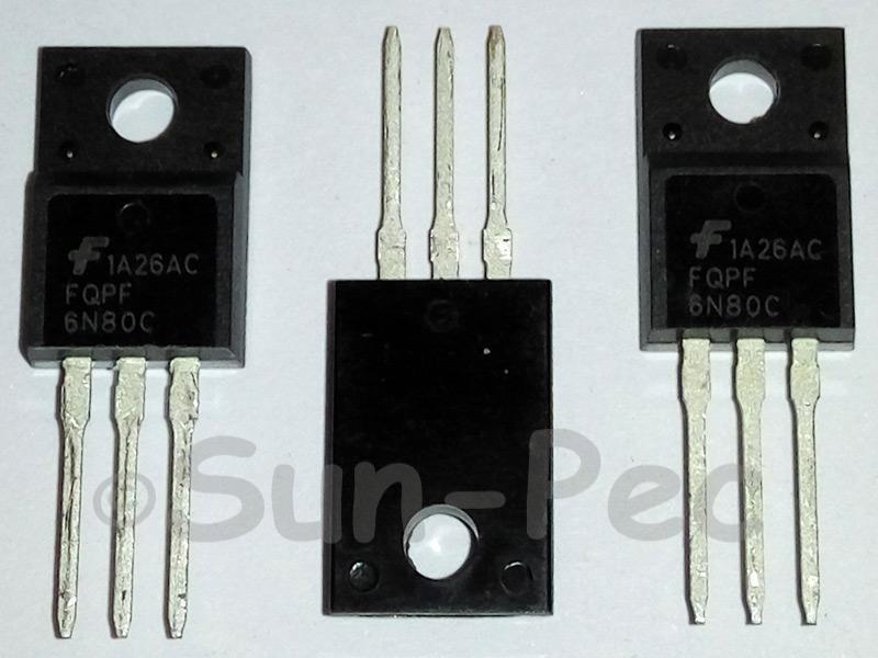 FQPF6N80C FAIRCHILD N-Channel MOSFET 800V 5.5A TO-220F 2pcs