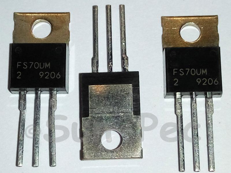 FS70UM-2 MITSUBISHI Nch POWER MOSFET HIGH-SPEED SWITCHING TO-220 1pcs