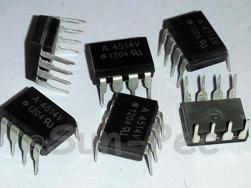 A4514V AGILENT Single Channel High Speed Optocouplers HCPL-4514V DIP-8 2pcs