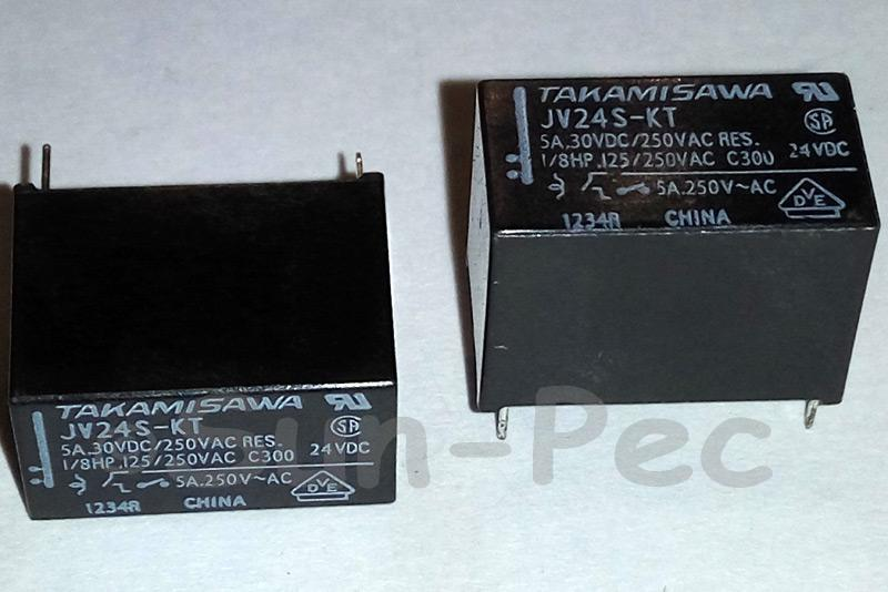 JV-24S-KT FUJI POWER RELAY Medium Load Control JV24SKT 0.2W - 0.3W 5A 4Pin 1pcs