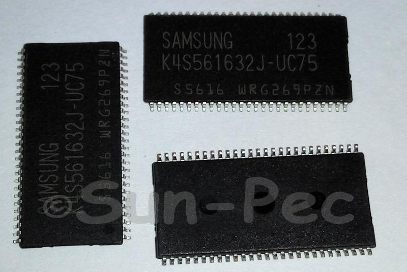 K4S561632J-UC75 SAMSUNG 256Mb H-die SDRAM TSOP-54 1pcs