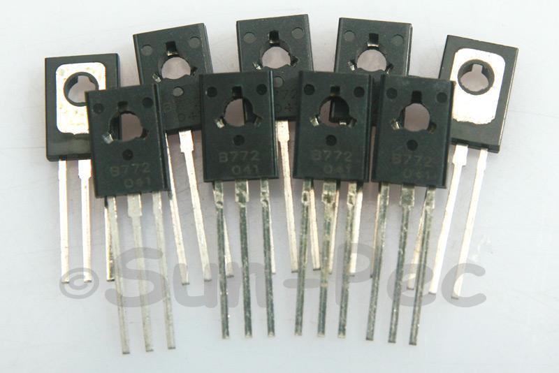 2SB772 Medium Power Transistor 40V 3A PNP TO-126 10pcs - 30pcs