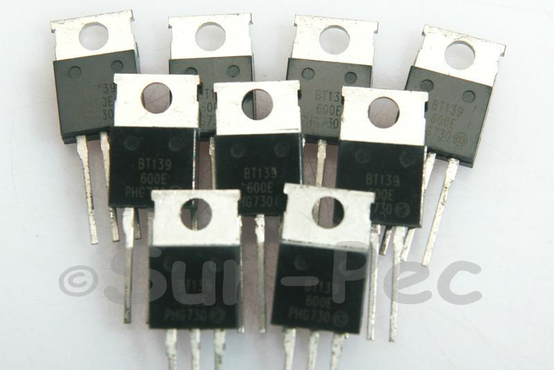 BT139 Sensitive Gate Triacs 600V 5W 16A TO220 2pcs - 10pcs