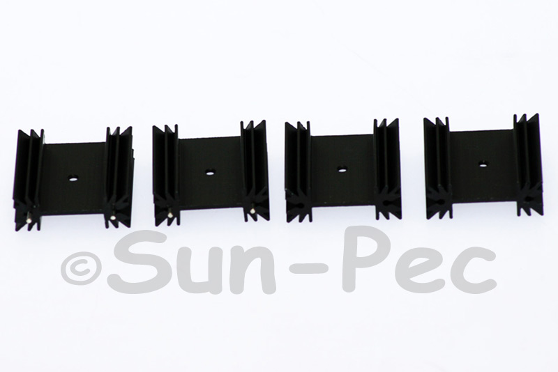 Aluminum Heatsink Heat-Sink MOSFET/volt regulator TO-220 Black 35 x 35 x 12.5mm 2pcs - 20pcs