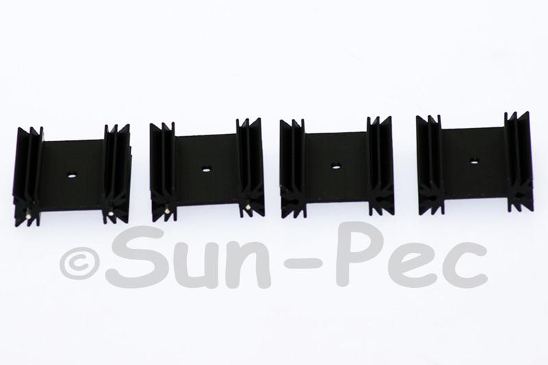 Aluminum Heatsink Heat-Sink MOSFET/volt regulator TO-220 Black 35 x 35 x 12.5mm 2pcs - 20pcs
