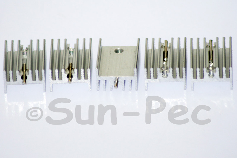 PCB Aluminum Heatsink Heat Sink MOSFET/volt regulator TO-220 Silver 20 x15 x 10mm 2pcs - 20pcs