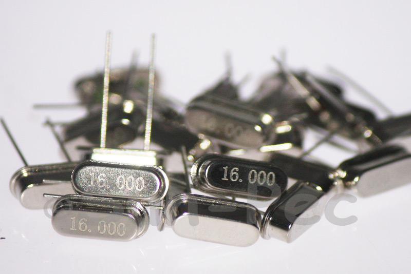 16.0000 MHz Crystal Oscillator Low Profile HC-49S 5pcs - 50pcs