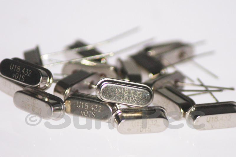 18.4320 MHz Crystal Oscillator Low Profile HC-49S 5pcs - 50pcs