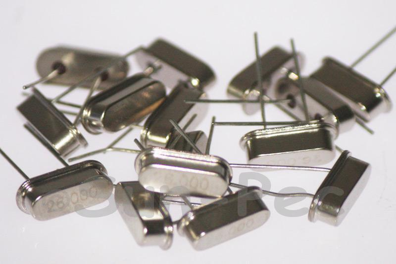 26.0000 MHz Crystal Oscillator Low Profile HC-49S 5pcs - 50pcs