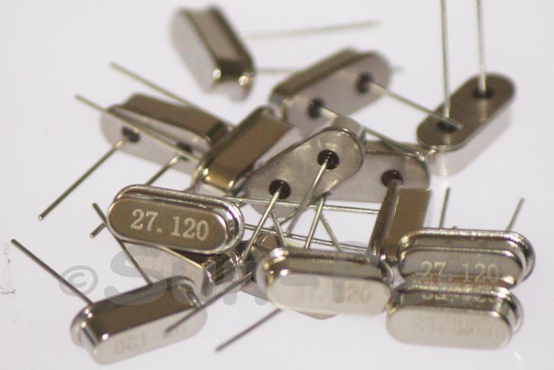 27.1200 MHz Crystal Oscillator Low Profile HC-49S 5pcs - 50pcs