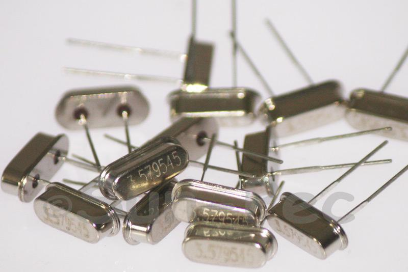 3.5790 MHz Crystal Oscillator Low Profile HC-49S 5pcs - 50pcs