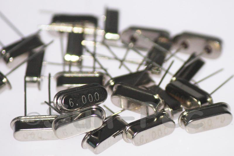 6.0000 MHz Crystal Oscillator Low Profile HC-49S 5pcs - 50pcs