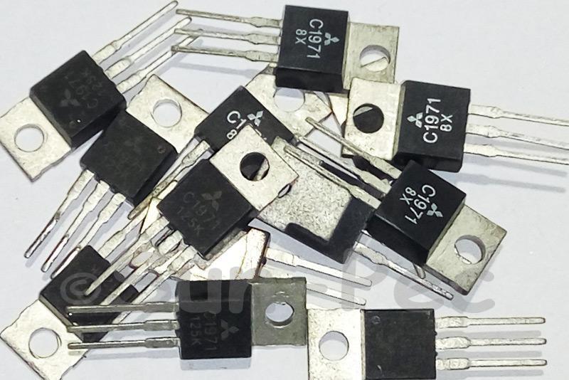 2SC1971 MITSUBISHI RF Power Transistor 35V 12.5W 2A TO-220 1pcs - 2pcs