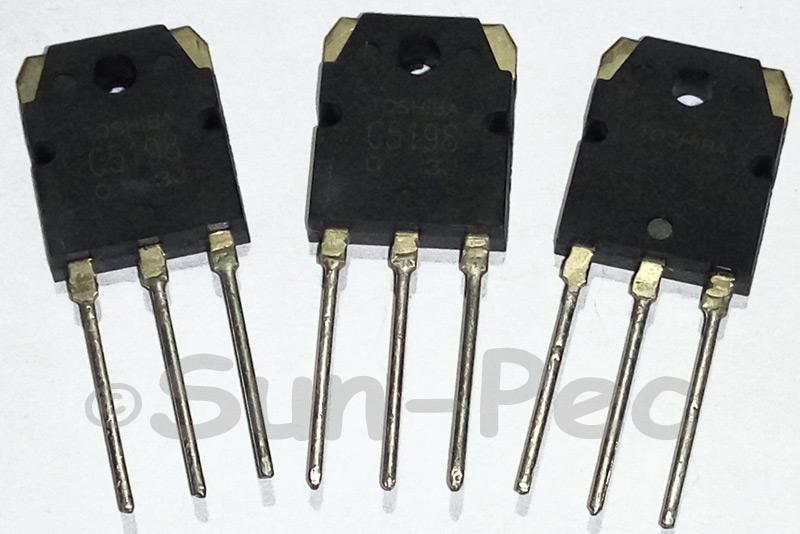 2SC5198 Toshiba High Power Audio transistor 140V 100W 1A TO-3P 2pcs
