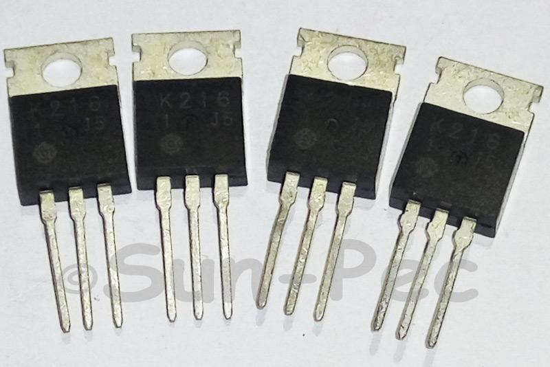 2SK216 HITACHI Silicon P-Channel MOSFET 200V 30W 0.5A N-Channel TO-220 1pcs