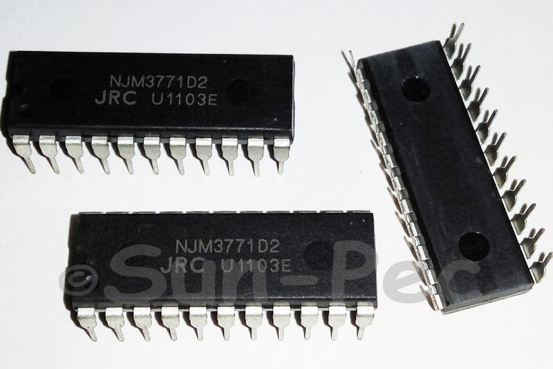 NJM3771D2 JRC DUAL STEPPER MOTOR DRIVER DIP-22 1pcs