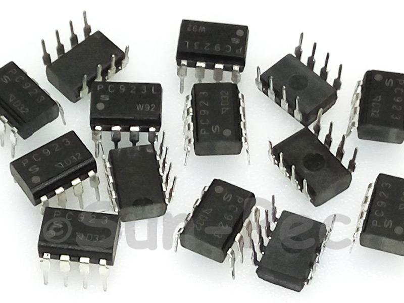 PC923 SHARP High Speed Photocoupler for MOS-FET DIP8 2pcs
