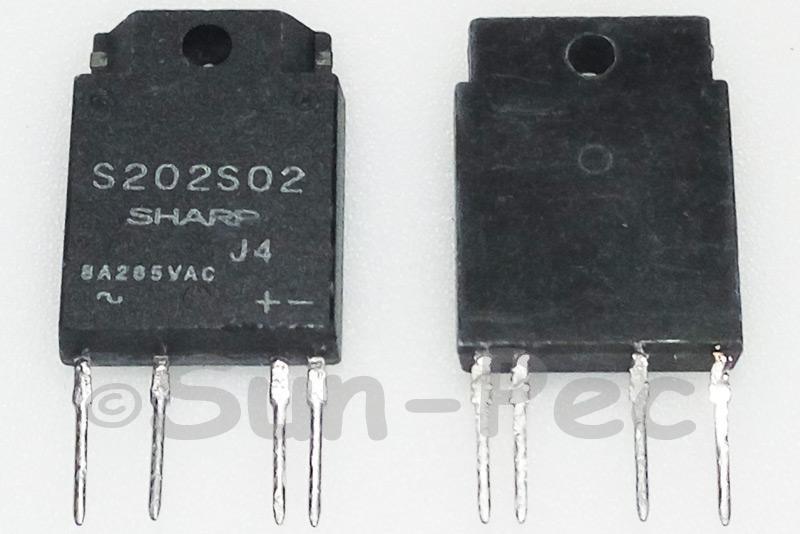 S202S02 SHARP Solid State Relay Medium Power ZIP-4 1pcs
