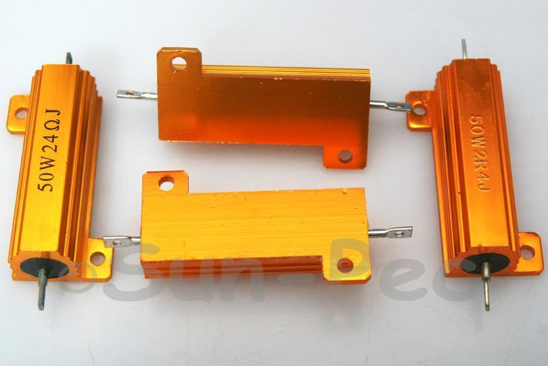 50W Wirewound Resistor Aluminium Clad 0.1 Ohm - 33K Ohm choices 1pcs