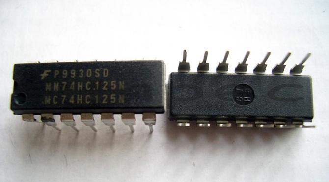 74HC125 DIP14 2pcs - 6pcs
